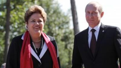 Dilma Rousseff y vladimir Putin.