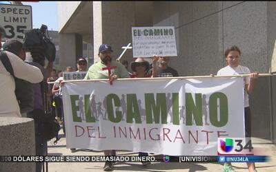Llega a Los Ángeles caminata en honor a los inmigrantes