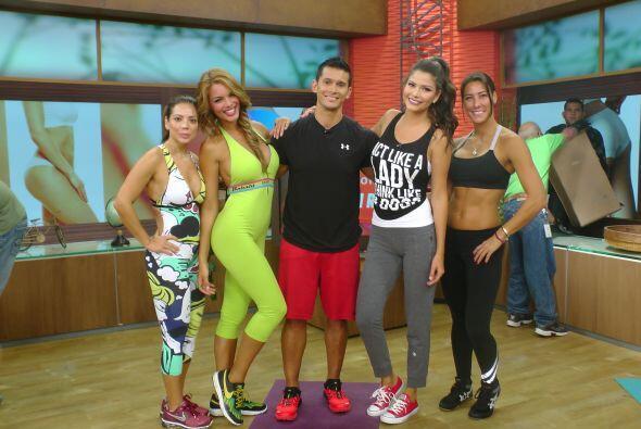 Las chicas estaban muy agradecidas con Roberto Soto por estos ejercicios...