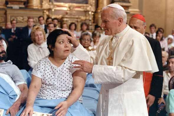 El Papa Juan Pablo durante su visita en Argentina.