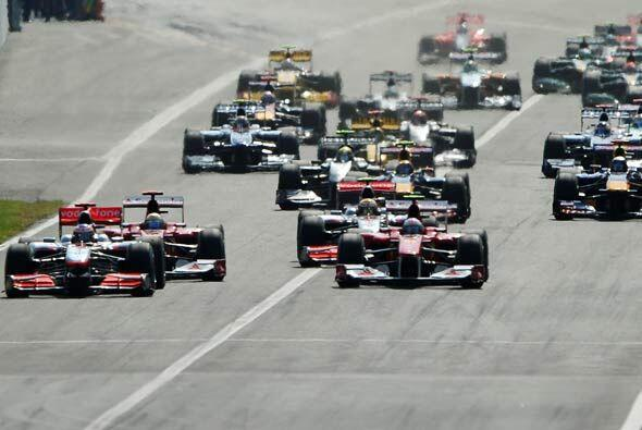El Gran Premio de Italia en el circcuito de Monza arrancó con una mala s...