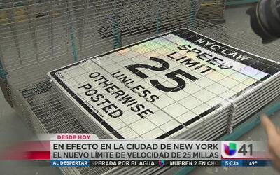 Entra en vigor límite de 25 mph en NY