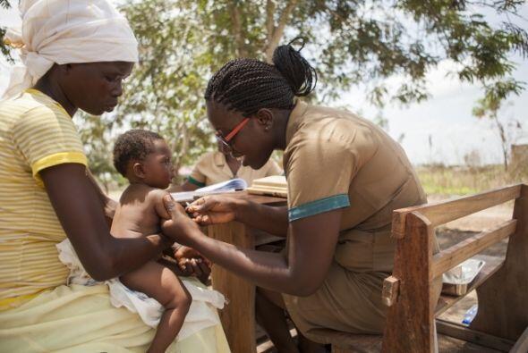 Hanna Konadu es uno de los miles de trabajadores comunitarios de salud e...