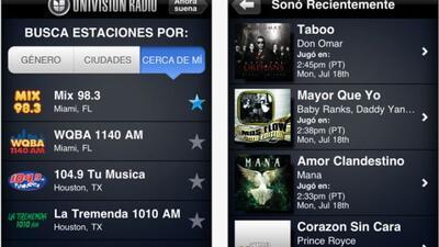 La nuevaappde Univision Radio para tu iPhone o iPod Touch.