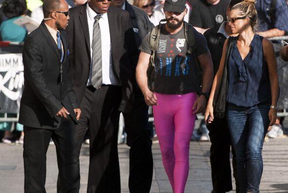 Al contrario, muy orgulloso caminó por las calles de Hollywood.