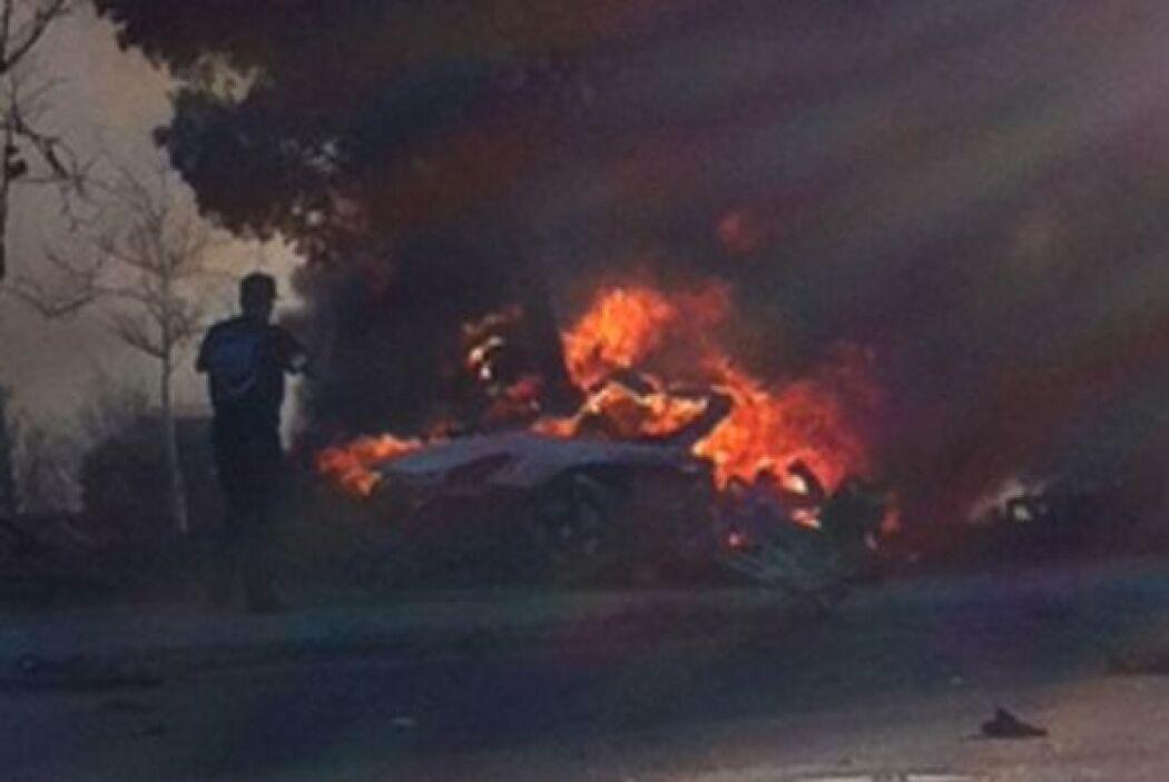 Las imágenes del accidente recorrieron de inmediato las redes sociales y...