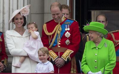 William y Kate en el festejo Trooping the Colour 2016.