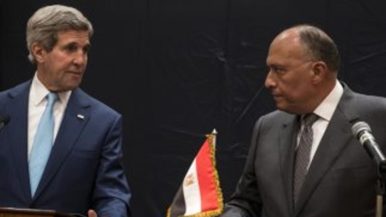 El secretario de Estado de EEUU, John Kerry, en su visita a Egipto.