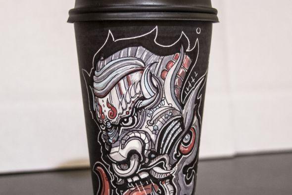 En verdad son obras de arte hechas café.