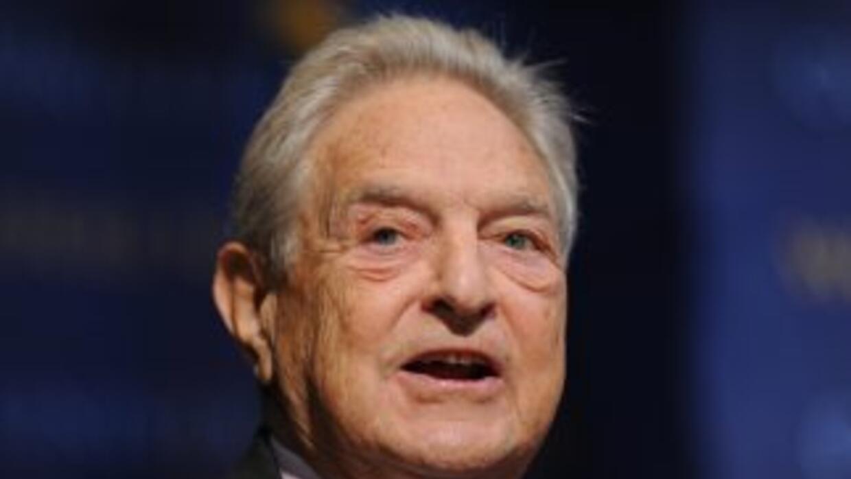 El multimillonario George Soros se identifica con las causas liberales e...