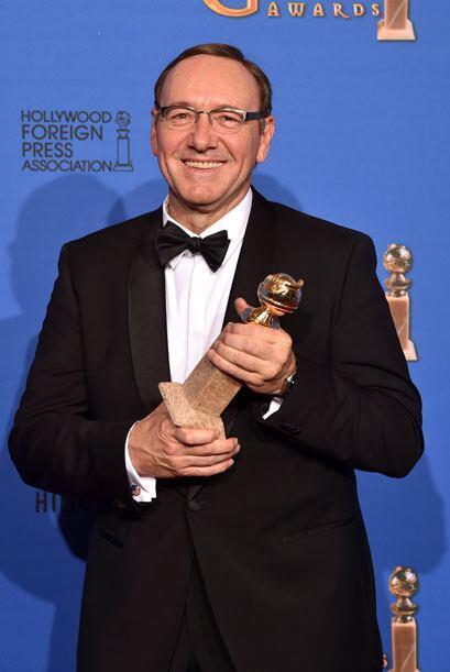 Kevin Spacey fue nombrado Mejor Actor en Drama - TV por 'House of Cards'.
