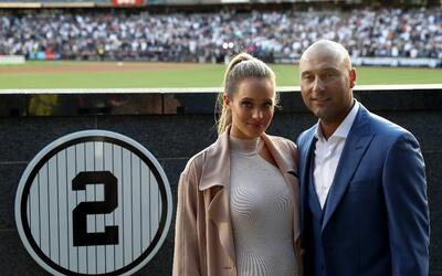 Yankees completan barrida con paliza Hannah Jeter and Derek Jeter.jpg
