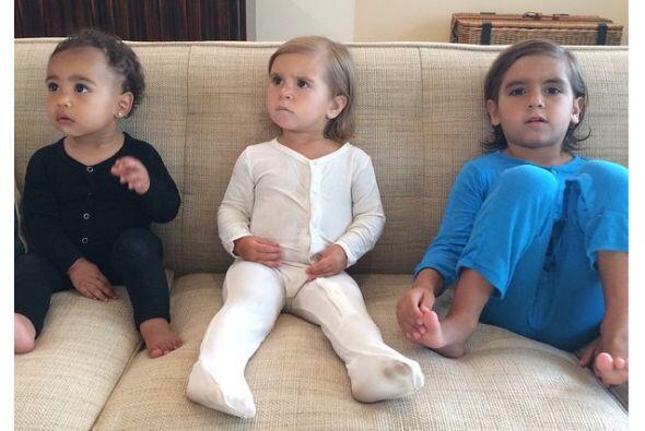 Los pequeños Kardashian nos tienen encantados. Aquí Nori, Penélope y Mason.
