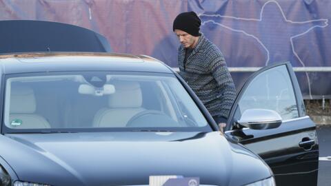 David Beckham aborda su Audi A8 en Paris