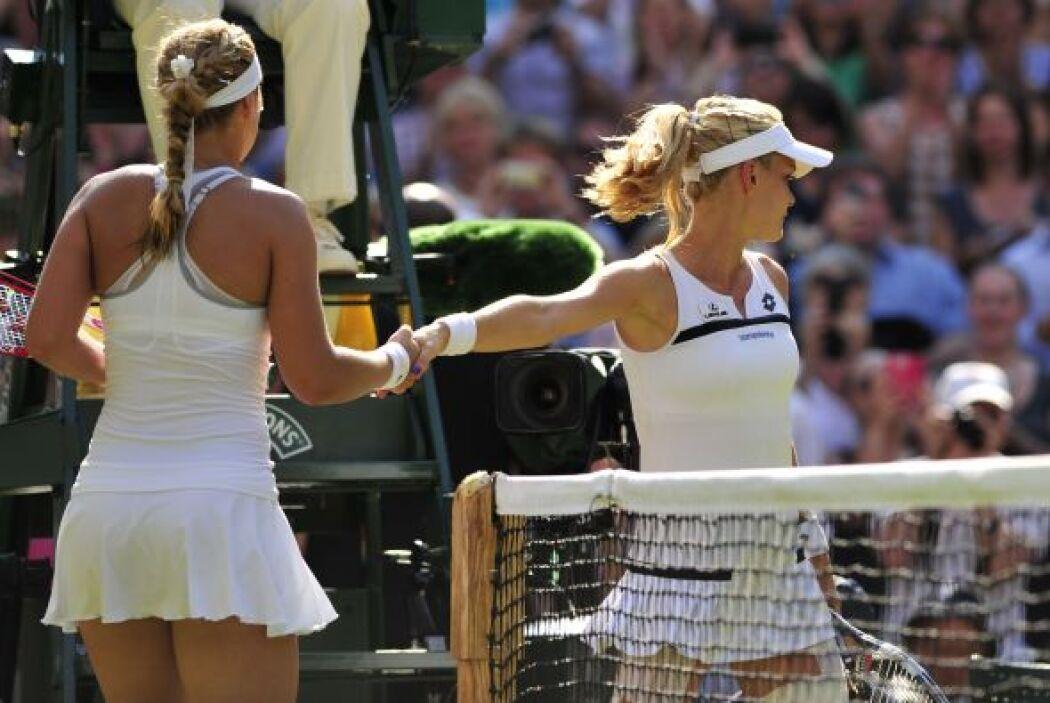 Radwanska estaba visiblemente enojada.