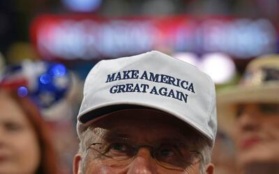 Un delegado de la Covención Nacional Republicana