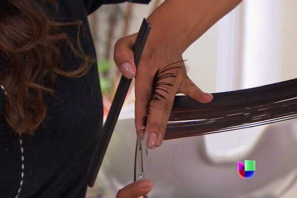 Jamás imaginó que se trataba de meterle tijera a su melena, ¿o sí Marisol?