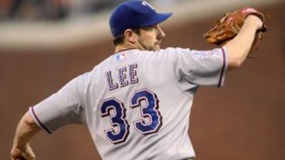 Cliff Lee no tuvo un buen desempeño en el primer juego de la Serie Mundial.