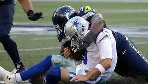 El momento de la lesión de Tony Romo ante los Seahawks