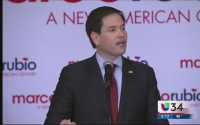 Marco Rubio toma fuerza en Georgia