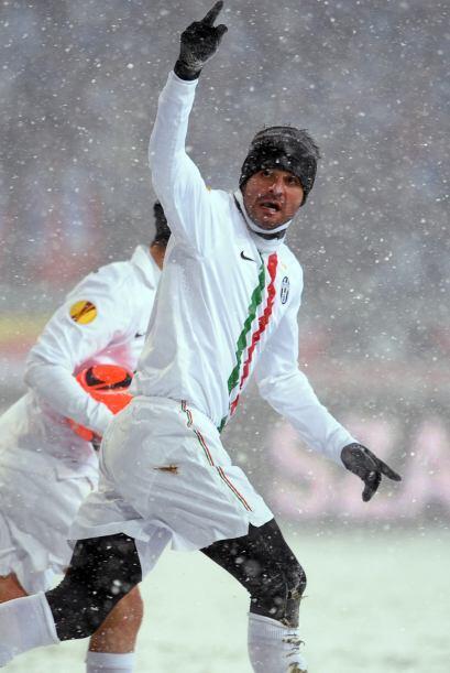 Iaquinta logró el gol del empate, pero no fue suficiente pues Juventus t...