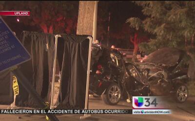 Automovilista muere tras impactarse contra un árbol en Upland