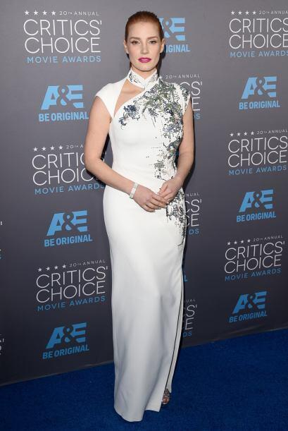 Súper sexy Jessica Chastain, un ejemplo de cómo vestir par...