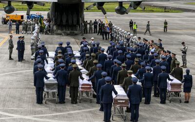 Así despidió Colombia a las víctimas de la tragedia...