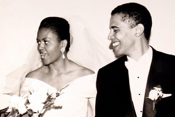 """Michelle se casó el 3 de octubre de 1992 con Barack en la iglesia """"Trini..."""