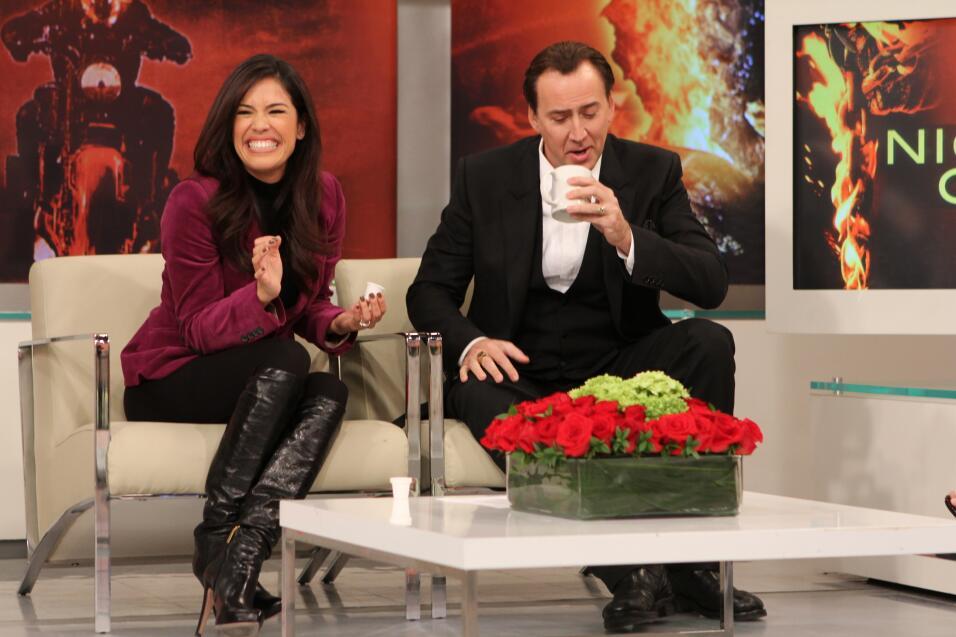 Nicolas Cage visitó Despierta América y demostró que es una estrella con...