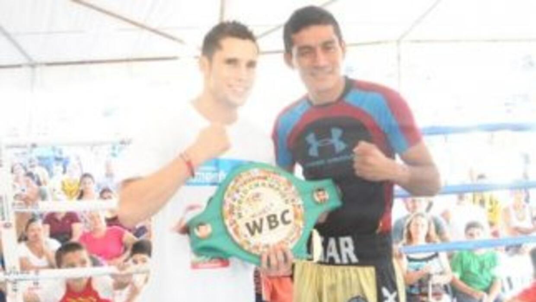 Carlos Cuadras y 'Sugar' Salgado listos (Foto: Promociones del Pueblo).