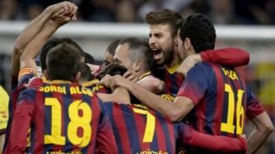 Revive el triunfo del Barça en imágenes