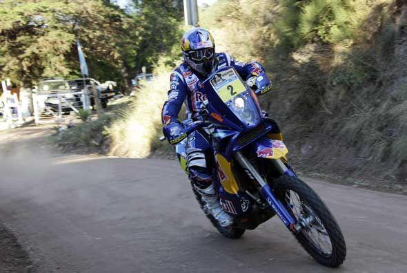 El francés Cyril Despres del equipo KTM tuvo otra etapa exitosa p...