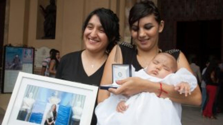 El bautizo de la pequeñaUmma Azul.