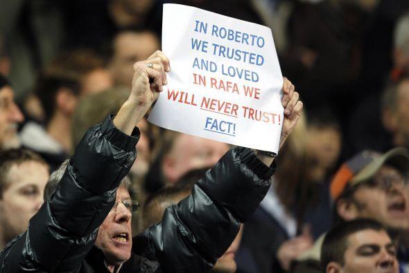 Pero los fanáticos no tienen en buen agrado al técnico español justo por...
