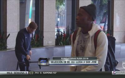 El Team USA ya se encuentra en California de cara al juego ante Honduras