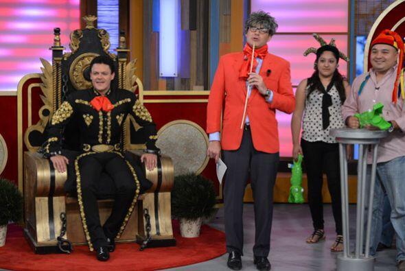 Pedro se sentó en su trono y se divirtió mucho en esta competencia.