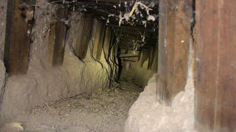 Descubren túnel transfronterizo en la frontera de Douglas, Arizona.