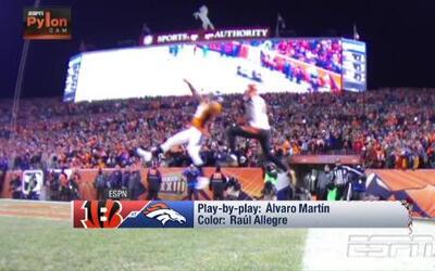 Espectacular atrapada para touchdown de A.J. Green narrada en español