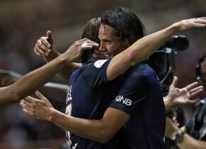 El uruguayo comandó la victoria del PSG sobre el Mónaco