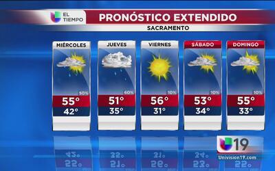 Continuará la lluvia en Sacramento