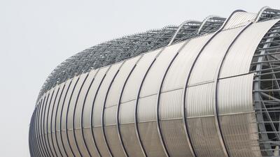 En Monterrey hay preocupación por la cancha del nuevo estadio 20150414_3...