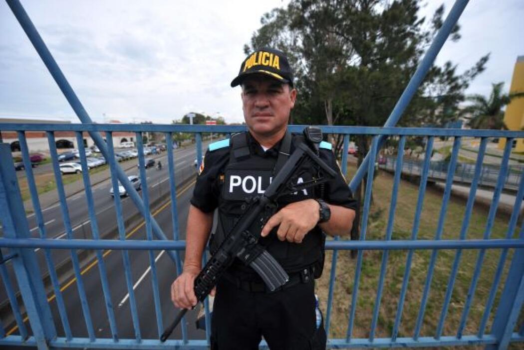 En la nación centroamericana ya le esperaba un fuerte dispositivo de seg...