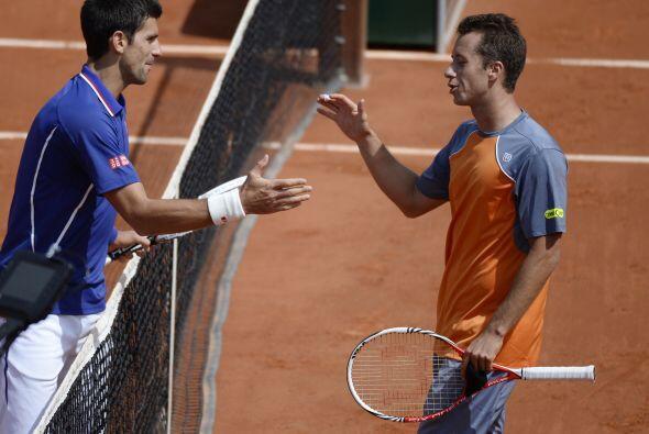 Djokovic perdió el primer set del torneo ante Philipp Kohlschreiber.