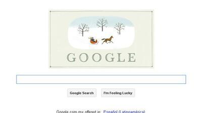 Google le desa felices fiestas a sus usuarios.