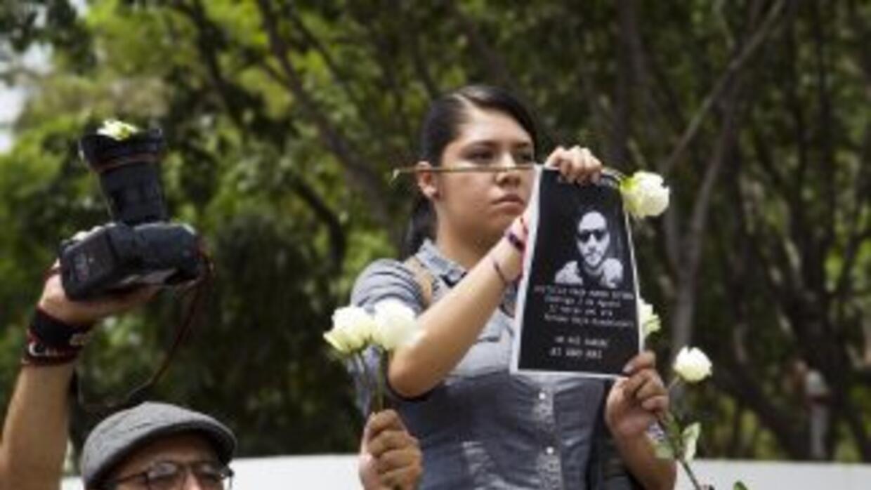 Manifestación tras el asesinato del fotoperiodista Rubén Espinosa.