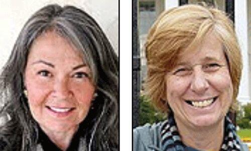 Los candidatos del Partido de la Paz y la Libertad: Rosanne Barr y Cindy...