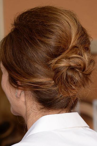 Julia fue una de las famosas que prefirió un peinado elegante con este c...