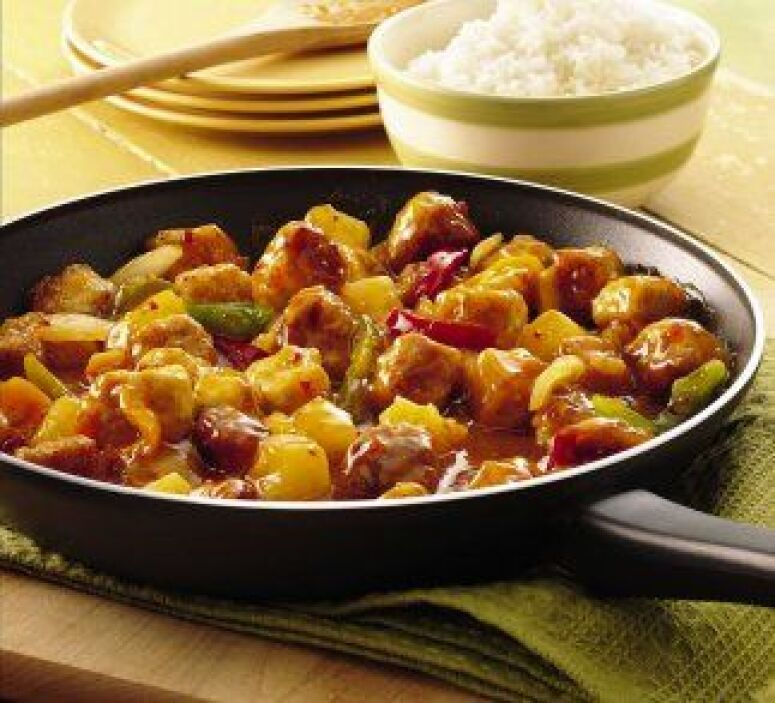 CERDO AGRIDULCE - ¿Salsa agridulce, piña y carne de cerdo juntas? Sí. No...