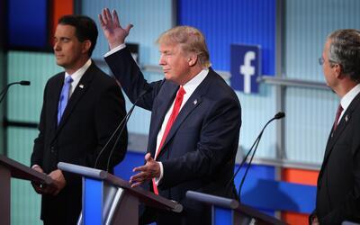 Trump durante debate presidencial